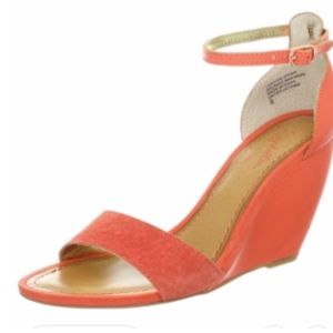 Seychelles Coral Ankle Strap Wedges